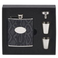 Vision 6oz leatherette flask</br>HF005